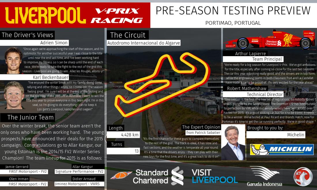 Liverpool V-Prix News: Pre-Season Testing